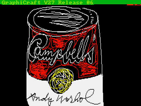 Campbell's, 1985 by Andy Warhol (American, 1928-1987). Digital image, from disk 1998.3.2129.3.22. The Andy Warhol Museum, Pittsburgh; Founding Collection, Contribution The Andy Warhol Foundation for the Visual Arts, Inc. © 2014 The Andy Warhol Foundation for the Visual Arts, Inc. / Artists Rights Society (ARS), New York