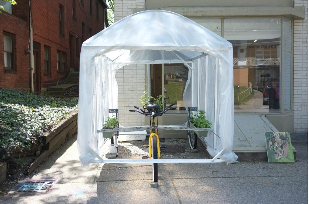 Thumbnail photo: Mobile Greenhouse Bike